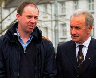 John Murray, grand-nephew of Paddy Lowry RIP and Johnny Rigney, Chairman of Slieve Bloom Association