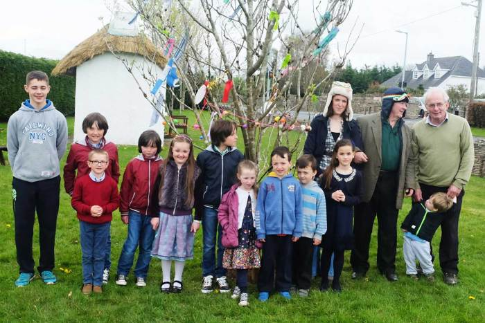 Some of the gang in Rosenallis at the Bealtaine May Bush Festival 2016 - photo Kathleen Culliton