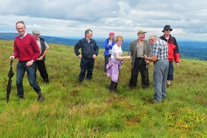 On top of Arderin for Slieve Bloom Ard Eireann Festival 2016 - Photo, Kathleen Culliton