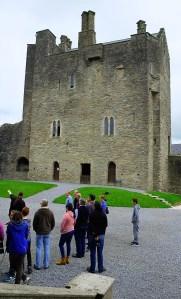 Roscrea Castle on the Slieve Bloom Ard Eireann Festival tour 2016 - Photo, Kathleen Culliton