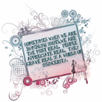 Bumbling Sincerity is better than Perfect Absence - Slightly off Kilter