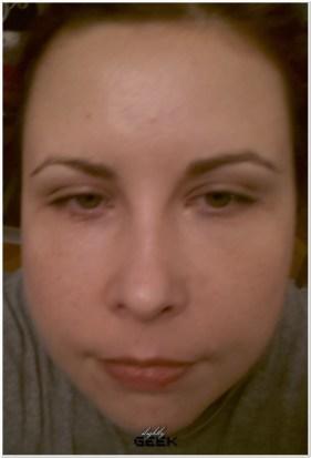 Przed zabiegiem - w makijazu