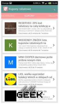Aplikacja kupony rabatowe