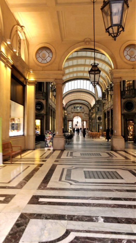 Shopping inside the Galleria San Federico