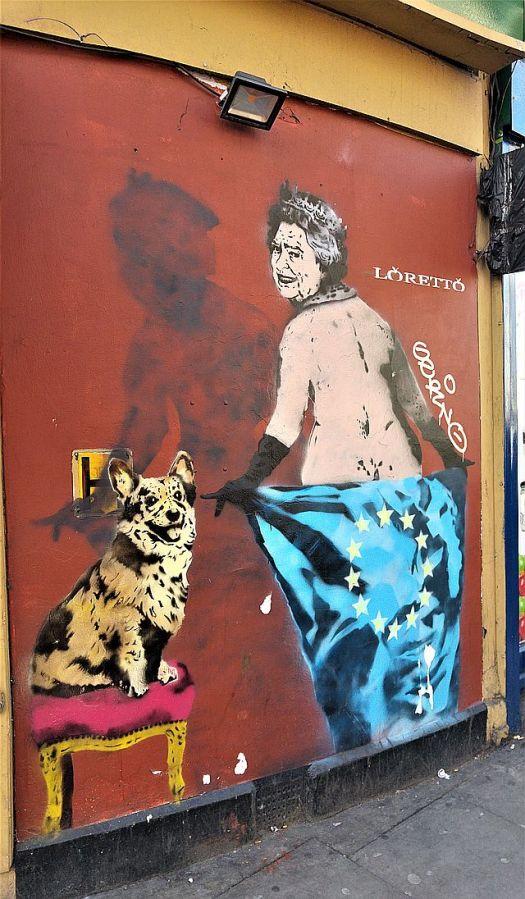 Loretto Queen and Corgi street art