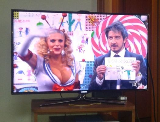 Third idea - watch really cheesy (and unPC) Italian television