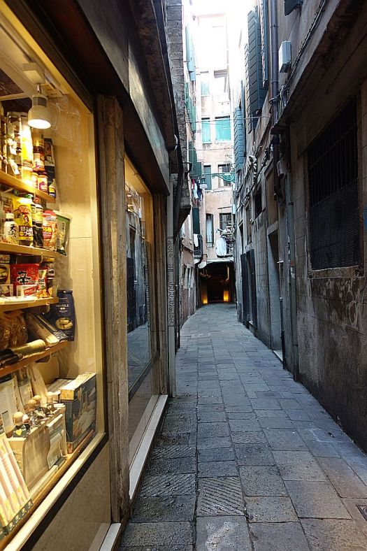 Shopping in an alley