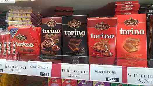 Chocolate in the kosher shop, Clapton