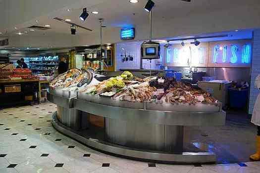 Selfridge's fish counter