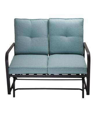 outdoor patio loveseat glider chair