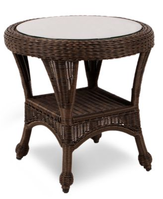 monterey wicker 22 round outdoor end table created for macy s