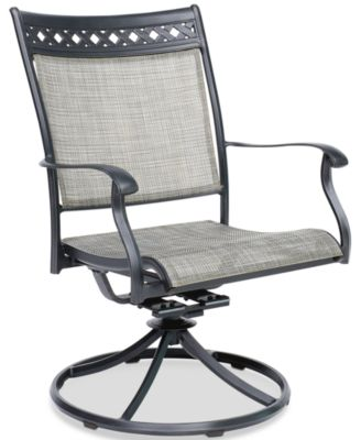 vintage ii outdoor sling swivel chair created for macy s