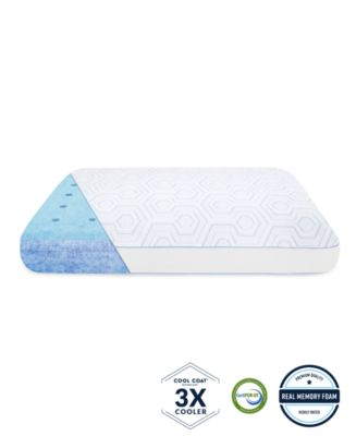 arctic gusset gel infused memory foam pillow with cool coat technology oversized
