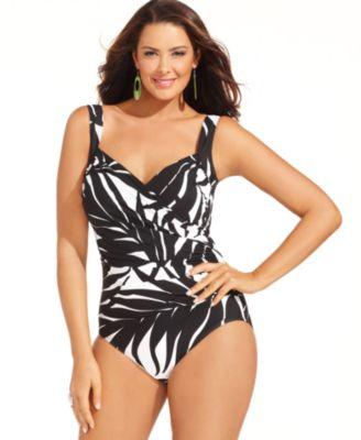 Miraclesuit Plus Size Swimsuit, Sanibel Printed One-Piece