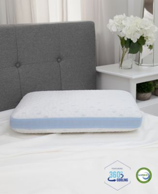 cold touch gusseted gel infused memory foam pillow oversized