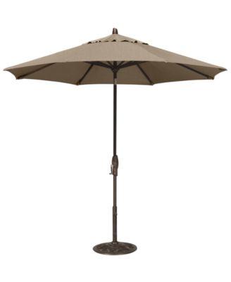 sunbrella patio umbrella outdoor bronze 9 auto tilt