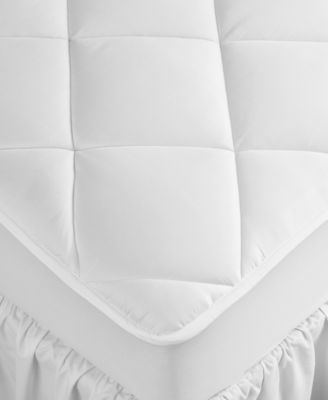 extra deep california king mattress pad hypoallergenic down alternative fill 500 thread count cotton created for macy s