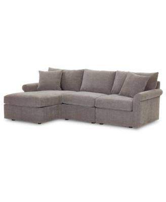 wedport 3 pc fabric modular sectional sofa with chaise created for macy s