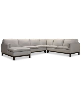 virton 136 4 pc leather chaise sectional sofa created for macy s