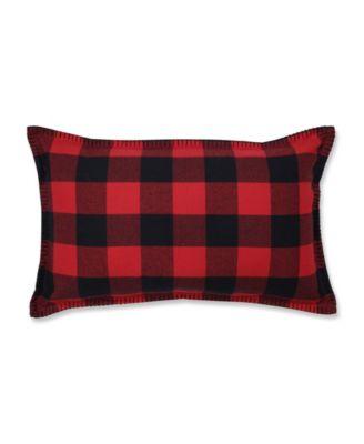 pillow perfect buffalo plaid lumbar