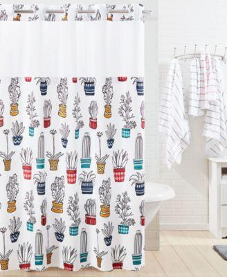 shower curtain cactus