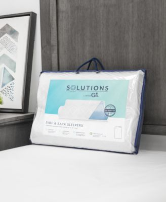 contour memory foam pillow for side and back sleepers