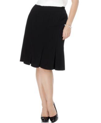 Kasper Plus Size Skirt, Pleated