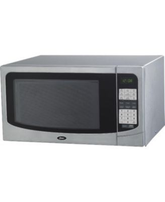 1 6 cu ft countertop microwave oven with 9 convenient cooking functions led lighting push button stainless steel