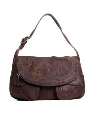 Lucky Brand Handbag, Floral Embroidery Stash Bag