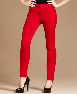 INC International Concepts Pants, Skinny Leg Flat Front Cropped