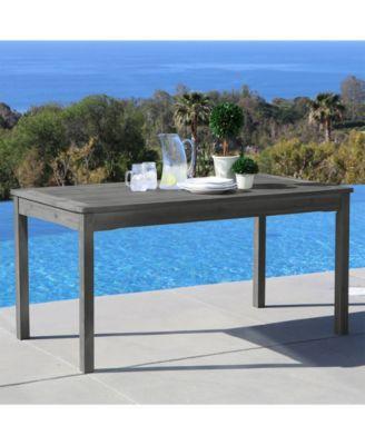 renaissance outdoor rectangular hand scraped wood patio dining table