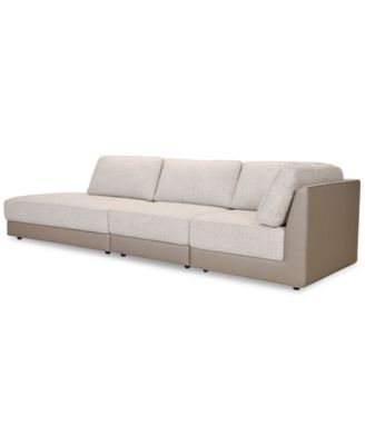 closeout mattley 3 pc fabric sectional sofa with bumper created for macy s