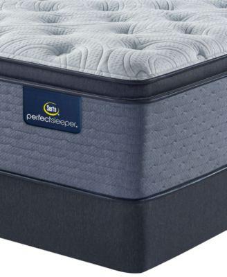 perfect sleeper renewed sleep 17 plush pillow top mattress set queen