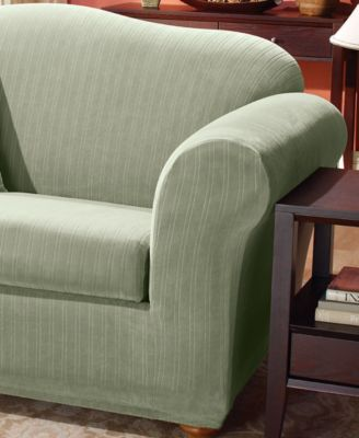 2 piece t cushion loveseat cover