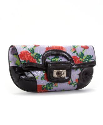 Betsey Johnson Handbag, Glitzy Floral Clutch