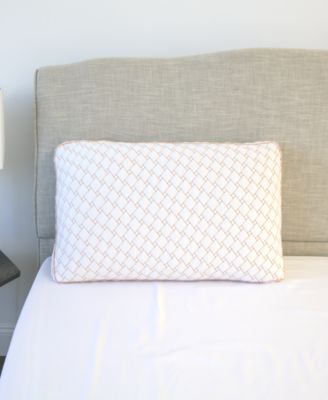 supportive memory foam cluster pillow with copper infused cover king