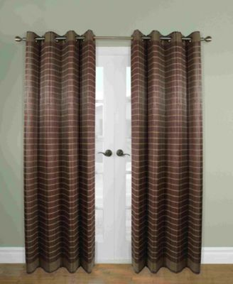 home fashions bamboo wood curtain panel with grommets
