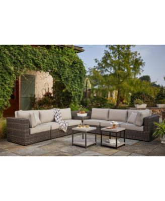 viewport outdoor modular seating with sunbrella cushions created for macy s