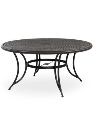 cast aluminum 60 round outdoor dining table created for macy s