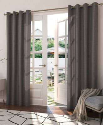 closeout rutherford solid woven indoor outdoor uv protectant 52 x 84 curtain panel