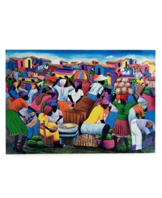 Heart of Haiti Wall Art, Market Canvas Print