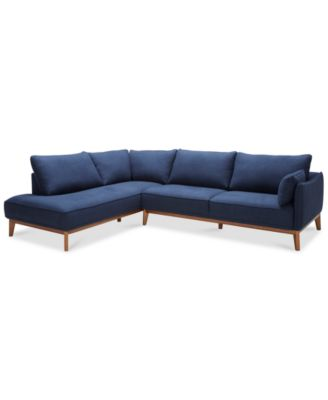 Blue Couches and Sofas   Macy s Jollene 113  2 Pc  Sectional  Created for Macy s