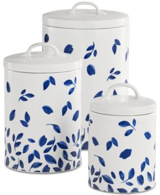 Martha Stewart Collection 6 Pc Stockholm Lidded Canisters Set Created For Macys Dinnerware