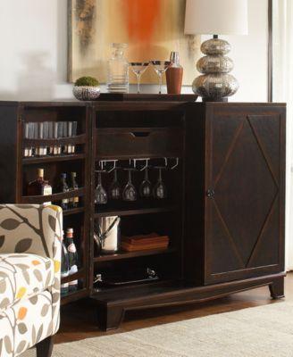 Bastille Bar Cabinet Furniture Macys