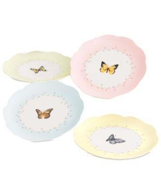 Lenox Butterfly Meadow Dessert Plates Set Of 4