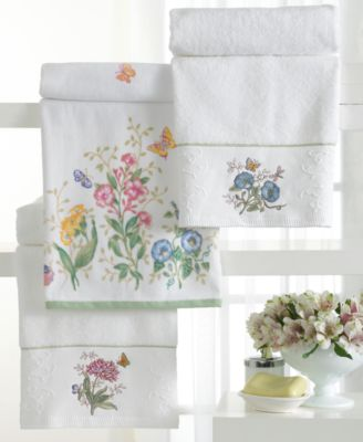 Lenox Butterfly Meadow Towel Collection Bath Towels