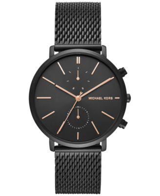 Michael Kors Mens Chronograph Jaryn Black Ion Plated