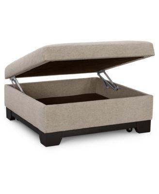 ottoman coffee table leather storage