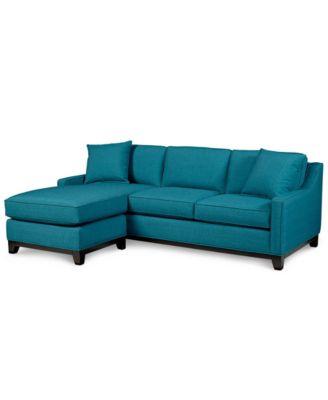 Keegan Fabric 2 Piece Sectional Sofa Furniture Macys