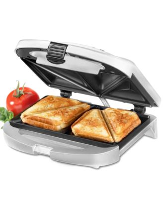 Cuisinart WM SW2 Sandwich Grill Brushed Chrome Small